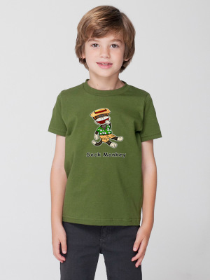 Sock Monkey Jumau T-shirt for children by Audrey Breed.