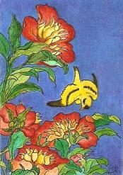 bird&flowers