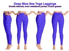 Deep Blue Sea Yoga Leggings
