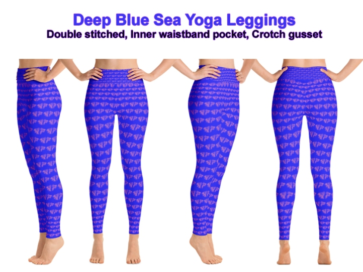 Deep Blue Sea Yoga Leggings