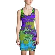 Purple Dragon Bodycon Dress