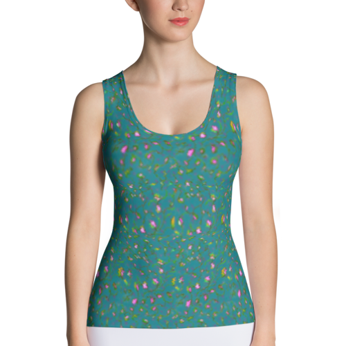 Spring Flowers Tank Top by Audrey Breed