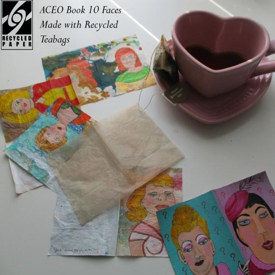 Recycled Teabag Art
