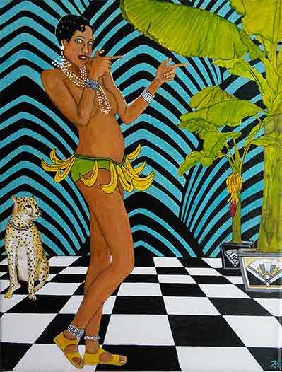 The Black Pearl Goes Bananas painting by Audrey Breed